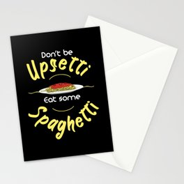 Eat Spaghetti Funny Pun Stationery Cards