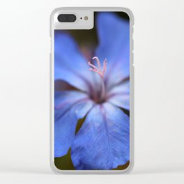 Forest Blue Clear iPhone Case
