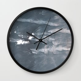 Slate gray abstract watercolor painting Wall Clock