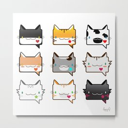 Convo Cats! Metal Print