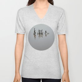 The river 's cryptic message Unisex V-Neck