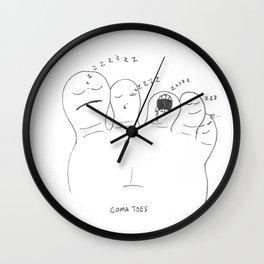 COMA TOES Wall Clock