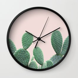 Cactus on Blush Wall Clock