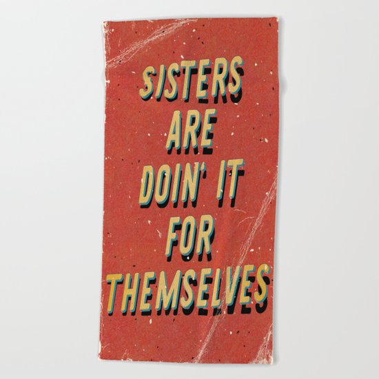 Sisters are doin' it for themselves - A Hell Songbook Edition Beach Towel