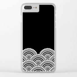 BLACK AND WHITE (abstract pattern) Clear iPhone Case