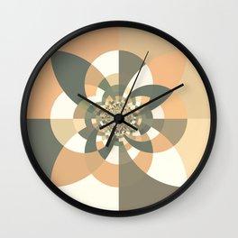 Beige Peach Kaleidoscope Wall Clock