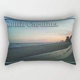 South Carolina - Beach Sunset Rectangular Pillow