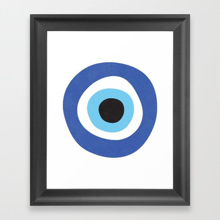 Evil Eye Symbol Gerahmter Kunstdruck