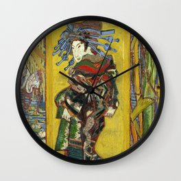 "Vincent van Gogh ""The Courtesan (after Eisen)"" Wall Clock"