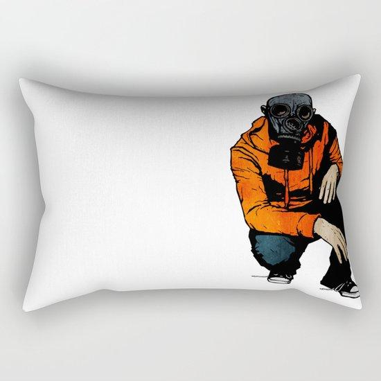 Waiting For (Inevitable) Trouble Rectangular Pillow