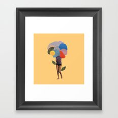 i dream of you amid the flowers Framed Art Print