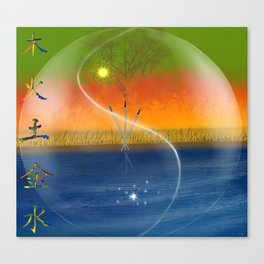 Feng Shui five elements Canvas Print