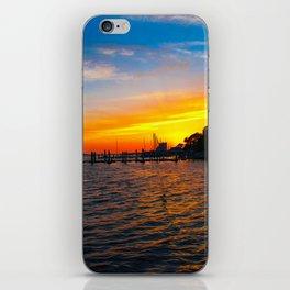 Sunset at the  Landing iPhone Skin