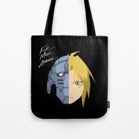 fullmetal Tote Bags featuring Fullmetal Alchemist/RAM by 5eth