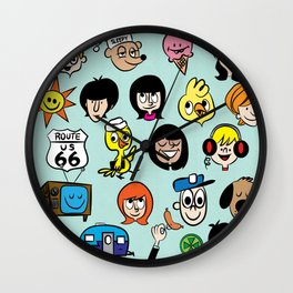 Route 66 Vacation Wall Clock