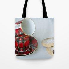 Tartan Coffee Cups & Scottish Shortbread Tote Bag