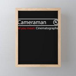 camera operator Framed Mini Art Print