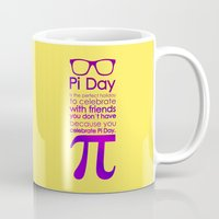 pi Mugs featuring Pi Day by Square Lemon