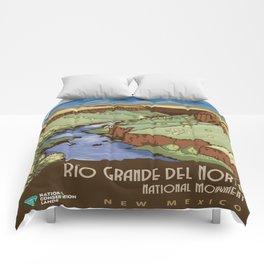 Vintage poster - Rio Grande Del Norte Comforters