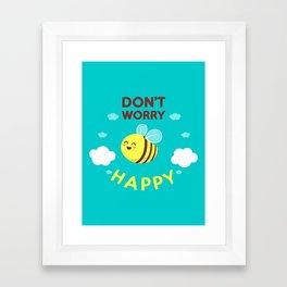 Buzzing life! Framed Art Print