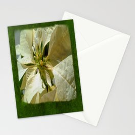 Pale Yellow Poinsettia 1 Blank P1F0 Stationery Cards