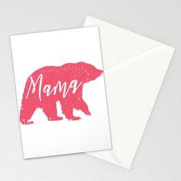 mama bear animal silhouette  Stationery Cards