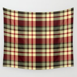 Old School Plaid Wall Tapestry