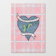 Nessie Valentine Canvas Print