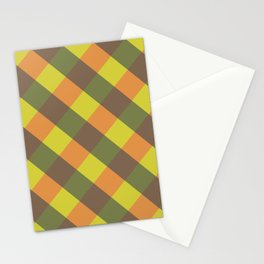 bright fall plaid Stationery Cards