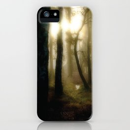 Morning in the Woods iPhone Case