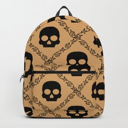 Skulls & Flowers - Beige Backpack