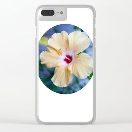 White Hibiscus Clear iPhone Case