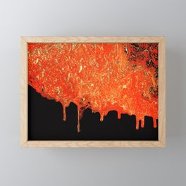 Lava Framed Mini Art Print