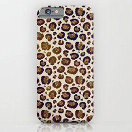 Bronze Leopard Spots iPhone Case