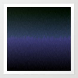 Cambridge Night: Black navy purple ombre flames Art Print