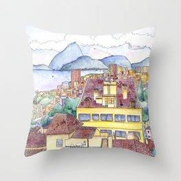 View from Ruins Park, Rio de Janeiro Throw Pillow