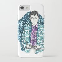 alex turner iPhone & iPod Cases featuring Baroque Alex Turner by Anja-Catharina