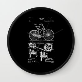 Bicycle Patent Wall Clock