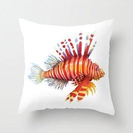 Firefish - lion fish Throw Pillow
