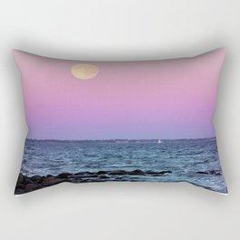#full #moon #Blue #hour #over the #sea Rectangular Pillow
