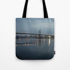 Triborough Bridge at Night. Tote Bag