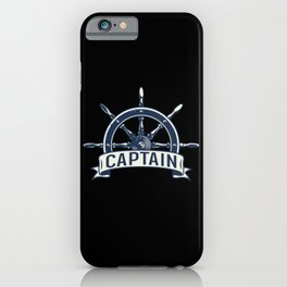 Boat Captain Humor Boating Sailor iPhone Case
