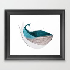 there´s a whale  Framed Art Print