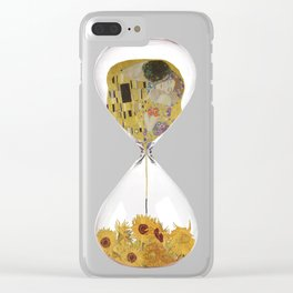 Hourglass of Love (Klimt) Clear iPhone Case