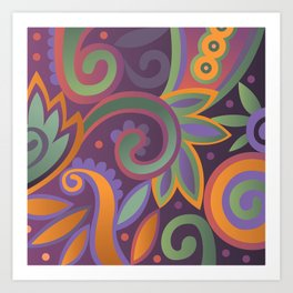 Summer leaves, heavy scented Art Print