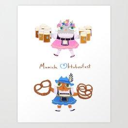 Munich Kitties Art Print