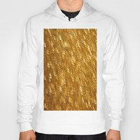 gold glitter Hoodies featuring Gold Glitter 1324 by Cecilie Karoline