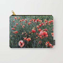 Poppies In A Field Carry-All Pouch