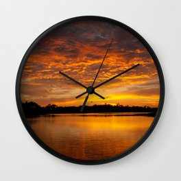 Fire Clouds Wall Clock
