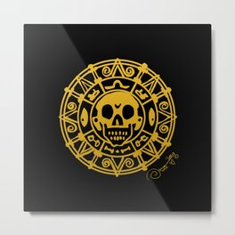 cursed treasure - Pirates of the Caribbean Metal Print